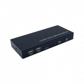 CONMUTADOR KVM HDMI AISENS A111-0400 4K60HZ USB 1U-2PC FUENTE ALIMENTA NEGRO