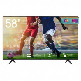 TV 58 LED HISENSE 58A7100F UHD SMART TV VIDA U3.0 4K COMPAT.ALEXA HDR 3HDMI 2USB