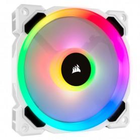 VENTILADOR CAJA ADICIONAL 12X12 CORSAIR QL120 RGB BLANCO
