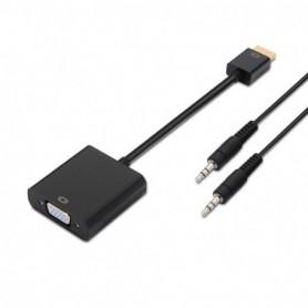 CONVERSOR HDMI A SVGAAUDIO HDMI AM-SVGAH NEGRO 10CM1.0M AISENS A122-0126