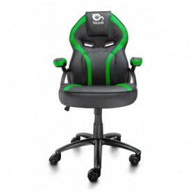 SILLA GAMING  TALIUS COBRA BRAZOS FIJOS BASE METAL NYLON GAS NEGRAVERDE