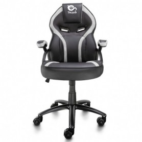 SILLA GAMING  TALIUS COBRA BRAZOS FIJOS BASE METAL NYLON GAS NEGRABLANCA