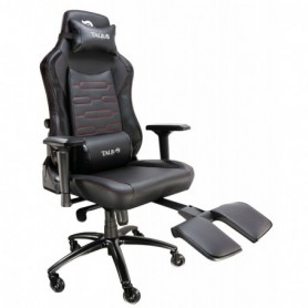 SILLA GAMING  TALIUS KONDA REGULACION LUMBAR REPOSAPIES 4D CARBONO NEGRAROJA