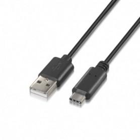 CABLE USB 2.0 3A TIPO USB-CM-AM NEGRO 0.5M AISENS A107-0050
