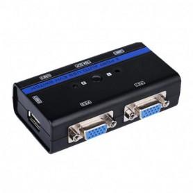 CONMUTADOR KVM VGA USB 1U-2PCCABLE NEGRO AISENS A111-0064