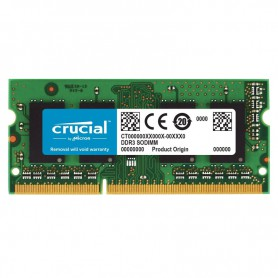 MEMORIA SODIMM DDR3 8GB PC3-12800 1600MHZ CRUCIAL CL11 1.35V CT102464BF160B