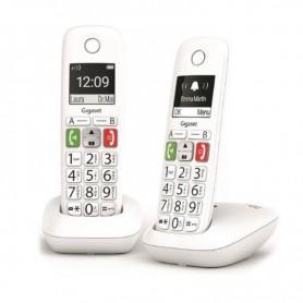 TELEFONO FIJO INALAMBRICO GIGASET E290 DUO TECLAS GRANDES BLANC L36852-H2901-D202