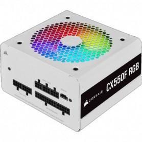 FUENTE ALIMENTACION ATX  550W CORSAIR CX550F RGB 80 BRONZE MODULAR WHITE