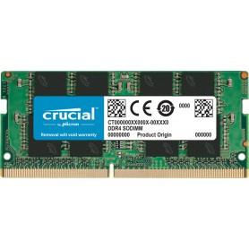 MEMORIA SODIMM DDR4 16GB PC4-21300 2666MHZ CRUCIAL CL19 1.2V CT16G4SFRA266