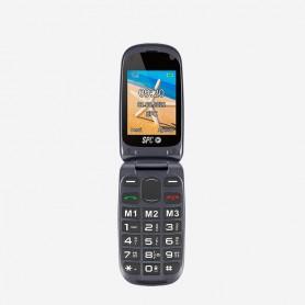 TELEFONO  SENIOR CONCHA SPC 2304N HARMONY P2.4 BOTON SOS BASE DE CARGA NEGRO