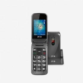 TELEFONO  SENIOR CONCHA SPC 2317T STELLA P2.4 BOTON SOS BASE DE CARGA