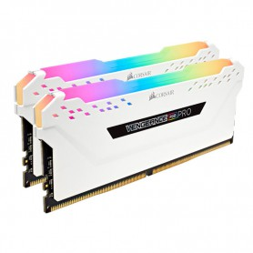 MEMORIA KIT DDR4  32GB(2X16GB) PC4-28800 3600MHZ CORSAIR VENGEANCE RGB PRO SL WHI