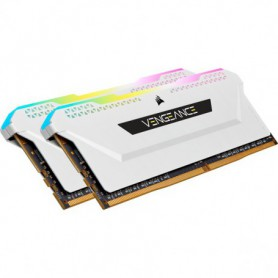 MEMORIA KIT DDR4  16GB(2X8GB) PC4-25600 3200MHZ CORSAIR VENGEANCE RGB PRO SL WHIT