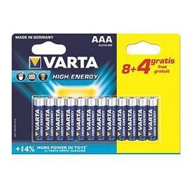 PILA AAA LR03 LONGLIFE POWER VARTA BLX84 ALCALINA
