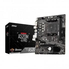 PB AMD SAMD4 MSI A520M-A PRO 2DDR4PCIE4SATA3HDMIVGADVI-DMATX