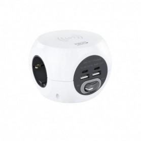 CARGADOR  USB NANOCABLE 2USB-C  2USB-A  3ENCHUFES CARGA INALAMB. 10W 10.37.0002