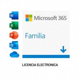 MICROSOFT OEM MICROSOFT 365 FAMILIA PKC 1 ANO 6 PCMAC ESD STOCK