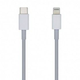 CABLE USB 2.0 USB-CM A LIGHTNING 2A BLANCO 20CM AISENS A102-0441