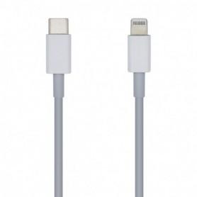 CABLE USB 2.0 USB-CM A LIGHTNING 2A BLANCO 1.0M AISENS A102-0442