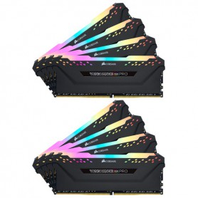 MEMORIA RAM KIT DDR4 64GB(8X8GB) PC4-28800 3600MHZ CORSAIR VENGEANCE RGB PRO C18