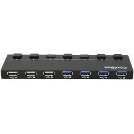 HUB USB COOLBOX  7 USB 3.0 HUBCOO356A