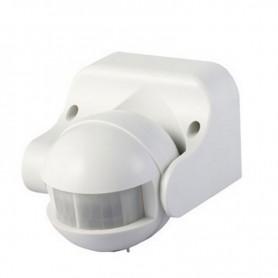 DETECTOR PRESENCIA ILUMINACION LED IR PIR VTAC 180  MAX300W BLANCO L4967