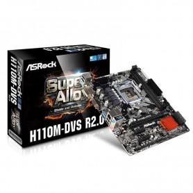 PLACA BASE S1151 ASROCK H110M-DVS R3.0 DDR4 PCIE USB2 M-ATX