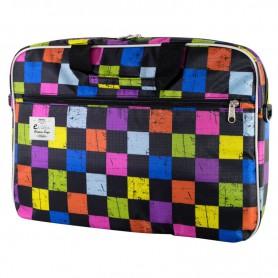 MALETIN PORTATIL 16 EVITTA STYLE LAPTOP BAG SQUARES EVLB000201