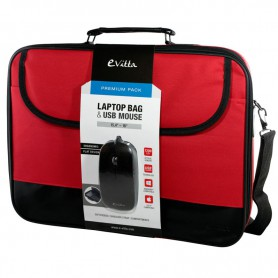 MALETIN PORTATIL 16 EVITTA LAPTOP BAG PREMIUM RATON RED EVLB000301