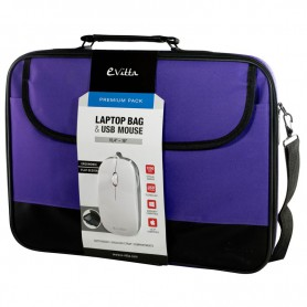 MALETIN PORTATIL 16 EVITTA LAPTOP BAG PREMIUM RATON PURPLE EVLB000302