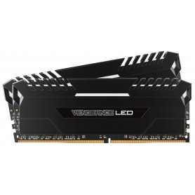 MEMORIA RAM KIT DDR4 16GB(2X8GB) PC4-21300 2666MHZ CORSAIR VENGEANCE LED BLANCO