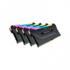 MEMORIA RAM KIT DDR4 32GB(4X8GB) PC4-25600 3200MHZ CORSAIR VENGEANCE RGB PRO C14