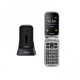 TELEFONO SENIOR FUNKER C75BL P2.4 PLEGABLE 2G BLUETOOTH CAMARA EASY CONFORT NEGRO