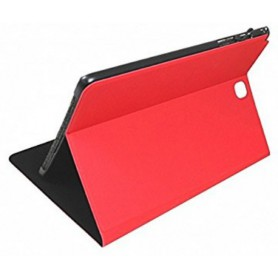 FUNDA TABLET SAMSUNG SILVER HT 9.7 TAB A  BOOKCASE WAVE ROJA