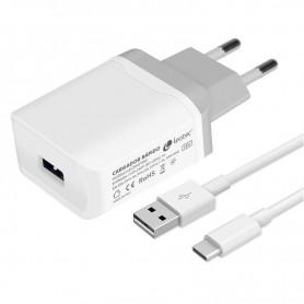 CARGADOR  USB LEOTEC PARED TYPEC CARGA RAPIDA 18W 3A LECSPHTYPEC