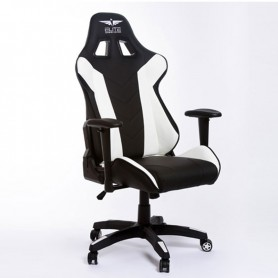 SILLA GAMING  ELITE GAMING MAJOR BLACK AND WHITE