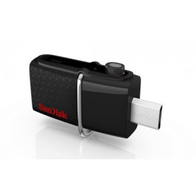 MEMORIA USB 3.0 64GB SANDISK DUAL MICRO ULTRA ANDROID NEGRO SDDD2-064G-GAM46