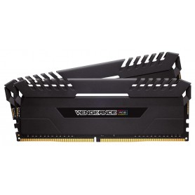 MEMORIA RAM KIT DDR4 16GB(2X8GB) PC4-21300 2666MHZ CORSAIR VENGEANCE LED AZUL C1
