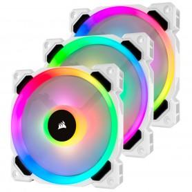 VENTILADOR CAJA ADICIONAL 12X12 CORSAIR LL120 RGB BLANCO PACK 3 UDS LIGTHING NODE