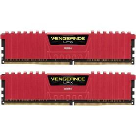 MEMORIA RAM KIT DDR4 16GB(2X8GB) PC4-25600 3200MHZ CORSAIR VENGE ROJA LPX