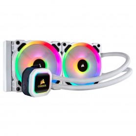 REFRIGERADOR LIQUIDO CPU CORSAIR H100I PLATINUM RGB SE BLANCO (2X120MM)