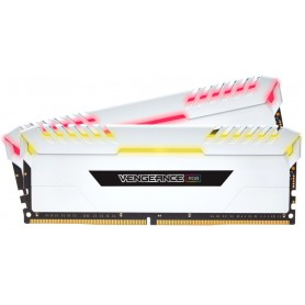 MEMORIA RAM KIT DDR4 32GB(2X16GB) PC4-25600 3200MHZ CORSAIR RGB LED VEN BLANCA U