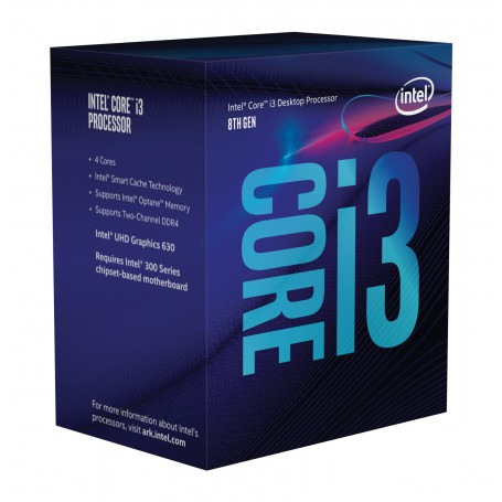 PROCESADOR INTEL CORE I3 8100 3.6GHZ S1151 6MB IN BOX