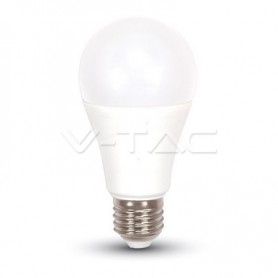 BOMBILLA LED E27 A60 V-TAC  9W 60W LUZ CALIDA  DIM-3 806LM  ALLROUND L4447