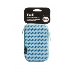 FUNDA HD SILVER HT HDD 2.5 BLUE GEOMETRIC 16207
