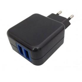 CARGADOR USB LEOTEC PARED 2USB 1X2.1A 1X1A 2CAB 2.5X0.7 Y MICRUSB-USB LECTAB2USB