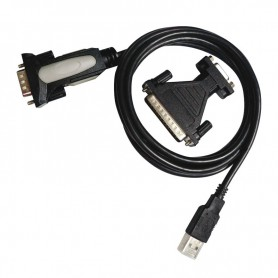 CONVERSOR USB A SERIE TIPO AM-RS232 DB9M DB25M NANOCABLE 10.03.0002