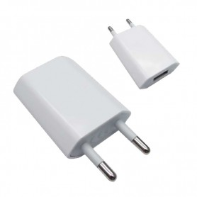 CARGADOR USB IPHONE IPOD 5V-1A  MINI BLANCO NANOCABLE 10.10.2001