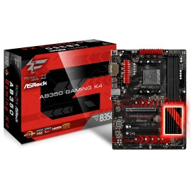 PLACA BASE AMD SAM4 ASROCK AB350 GAMING K4 DDR4 PCIE SATA3 HDMI DVI-D ATX