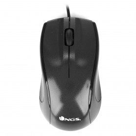 RATON  NGS USB  OPTICAL WIRED MOUSE BLACK MIST
